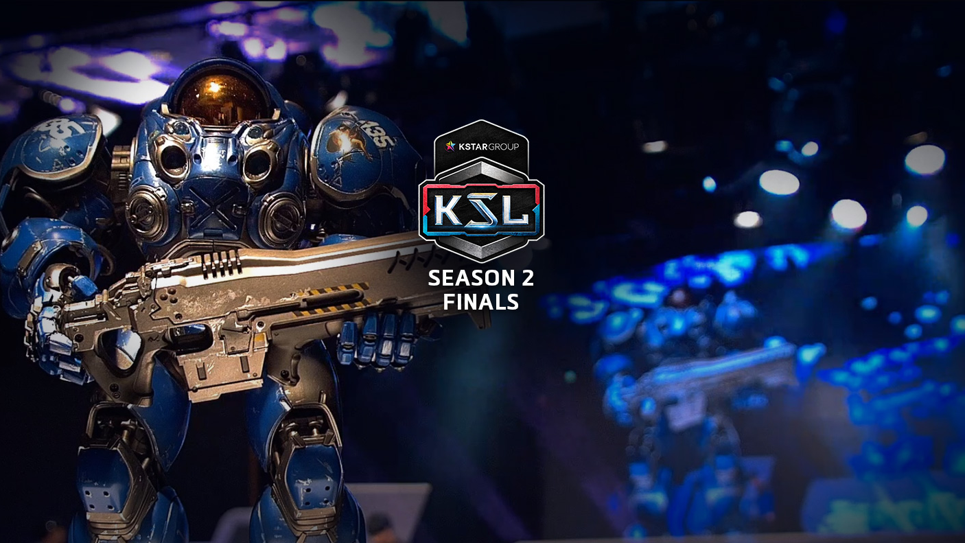 KSL logo with Tychus in the background