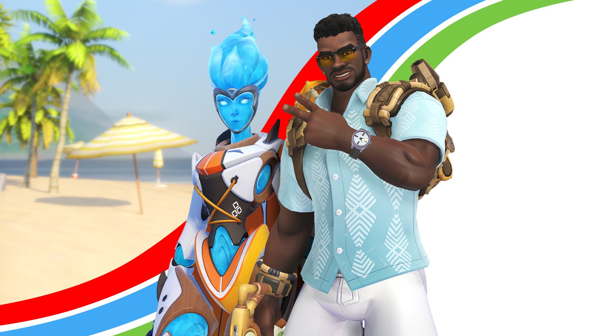 Echo and Baptiste Summer Games Skins